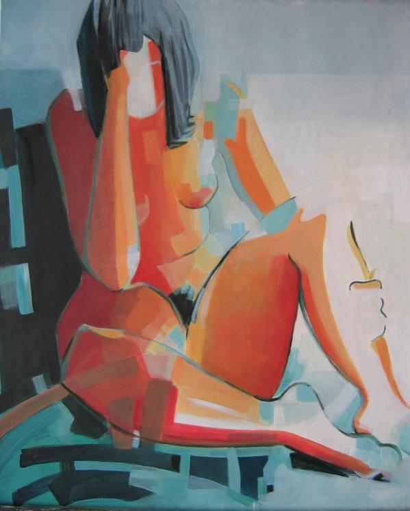 Nu - Claire Lewis - huile sur toile